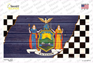 New York Racing Flag Wholesale Novelty Sticker Decal