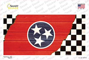 Tennessee Racing Flag Wholesale Novelty Sticker Decal