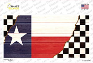 Texas Racing Flag Wholesale Novelty Sticker Decal