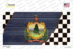 Vermont Racing Flag Wholesale Novelty Sticker Decal