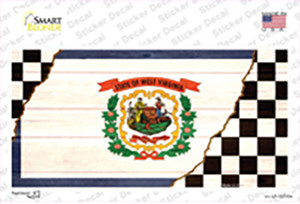 West Virginia Racing Flag Wholesale Novelty Sticker Decal
