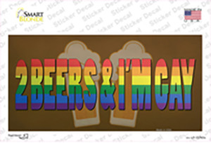 2 Beers Im Gay Wholesale Novelty Sticker Decal