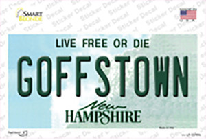 Goffstown New Hampshire Wholesale Novelty Sticker Decal