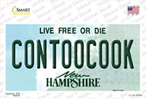 Contoocook New Hampshire Wholesale Novelty Sticker Decal