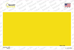 Yellow Metallic Solid Wholesale Novelty Sticker Decal