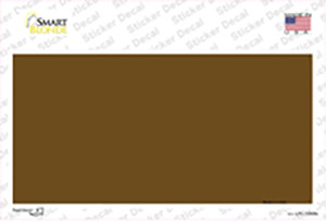 Brown Metallic Solid Wholesale Novelty Sticker Decal