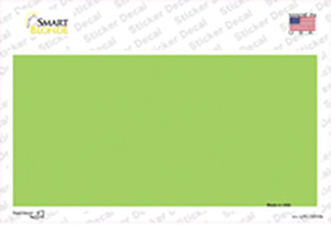 Lime Green Metallic Solid Wholesale Novelty Sticker Decal