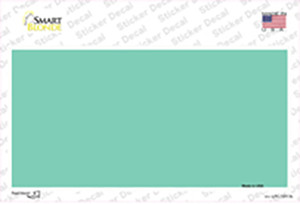 Teal Metallic Solid Wholesale Novelty Sticker Decal