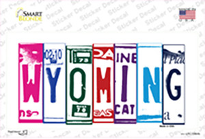 Wyoming Art Wholesale Novelty Sticker Decal