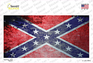 Confederate Flag Scratched Chrome Wholesale Novelty Sticker Decal