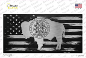 Wyoming Carbon Fiber Wholesale Novelty Sticker Decal