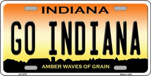 Go Indiana Wholesale Novelty Metal License Plate Tag