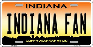 Indiana Fan Wholesale Novelty Metal License Plate Tag