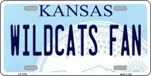 Kansas Wildcats Fan Wholesale Novelty Metal License Plate Tag