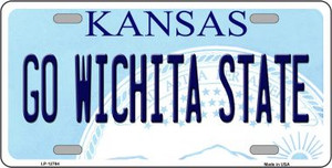 Go Wichita State Wholesale Novelty Metal License Plate Tag