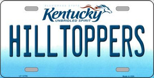 Hilltoppers Wholesale Novelty Metal License Plate Tag