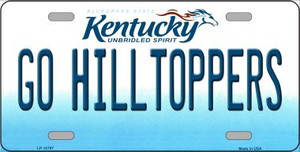 Go Hilltoppers Wholesale Novelty Metal License Plate Tag