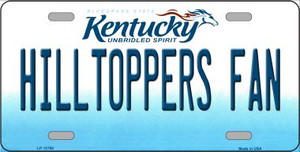 Hilltoppers Fan Wholesale Novelty Metal License Plate Tag