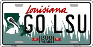 Go LSU Wholesale Novelty Metal License Plate Tag