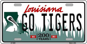 Louisiana Go Tigers Wholesale Novelty Metal License Plate Tag
