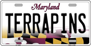 Terrapins Wholesale Novelty Metal License Plate Tag