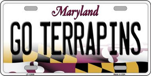 Go Terrapins Wholesale Novelty Metal License Plate Tag