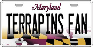 Terrapins Fan Wholesale Novelty Metal License Plate Tag