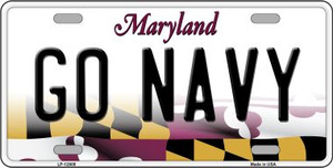 Go Navy Wholesale Novelty Metal License Plate Tag