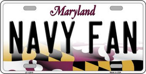 Navy Fan Wholesale Novelty Metal License Plate Tag