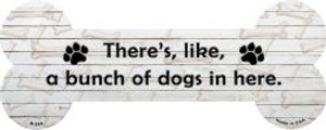 Bunch of Dogs Wholesale Novelty Metal Bone Magnet