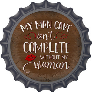 Without My Woman Wholesale Novelty Metal Bottle Cap