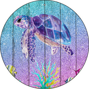 Colorful Sea Turtle Wholesale Novelty Small Metal Circular Sign