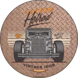 Built For Speed Hotrod Wholesale Novelty Small Metal Circular Sign