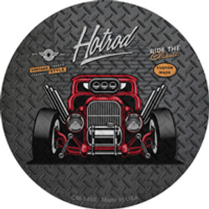 Ride the Classic Red Hotrod Wholesale Novelty Mini Metal Circle Magnet