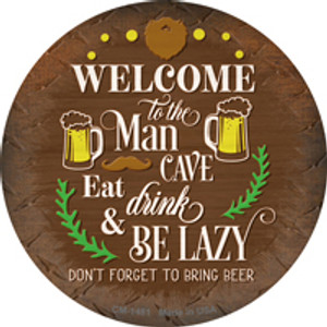 Eat Drink And Be Lazy Wholesale Novelty Mini Metal Circle Magnet