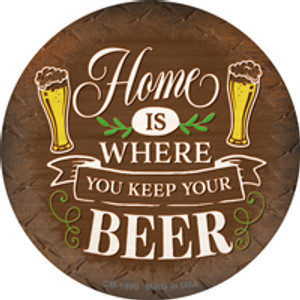 Where You Keep Your Beer Wholesale Novelty Mini Metal Circle Magnet