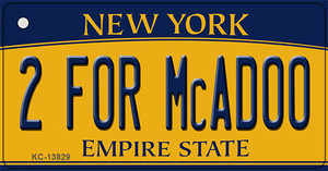 2 For McAdoo New York Wholesale Novelty Metal Key Chain