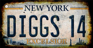 Diggs 14 Excelsior New York Rusty Wholesale Novelty Metal Key Chain