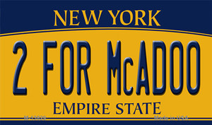 2 For McAdoo New York Wholesale Novelty Metal Magnet