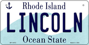 Lincoln Rhode Island Wholesale Novelty Metal Bicycle Plate