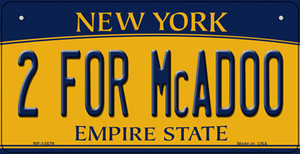 2 For McAdoo New York Wholesale Novelty Metal Bicycle Plate