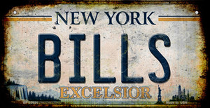 Bills Excelsior New York Rusty Wholesale Novelty Metal Bicycle Plate