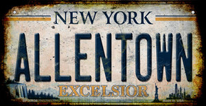 Allentown Excelsior New York Rusty Wholesale Novelty Metal Bicycle Plate