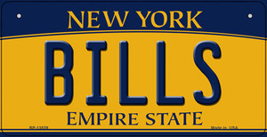 Bills NY Yellow Wholesale Novelty Metal Bicycle Plate