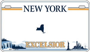 Excelsior New York Blank Wholesale Novelty Metal Motorcycle Plate