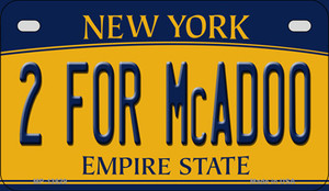 2 For McAdoo New York Wholesale Novelty Metal Motorcycle Plate