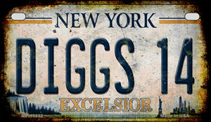Diggs 14 Excelsior New York Rusty Wholesale Novelty Metal Motorcycle Plate