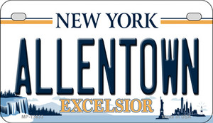 Allentown Excelsior New York Wholesale Novelty Metal Motorcycle Plate