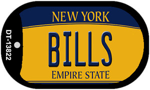 Bills New York Yellow Wholesale Novelty Metal Dog Tag Necklace