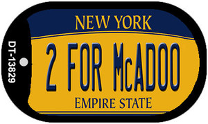 2 For McAdoo New York Wholesale Novelty Metal Dog Tag Necklace
